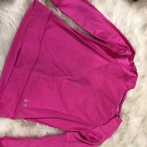 UNDER ARMOR long sleeve athlete top with zipper
